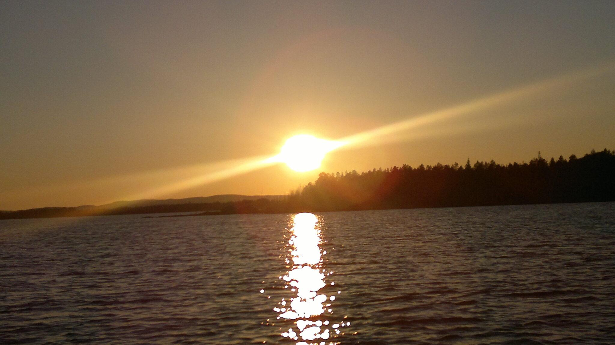 Ferien auf der RelaxRanch in Schweden bei Familie Habrik; Sonnenuntergang