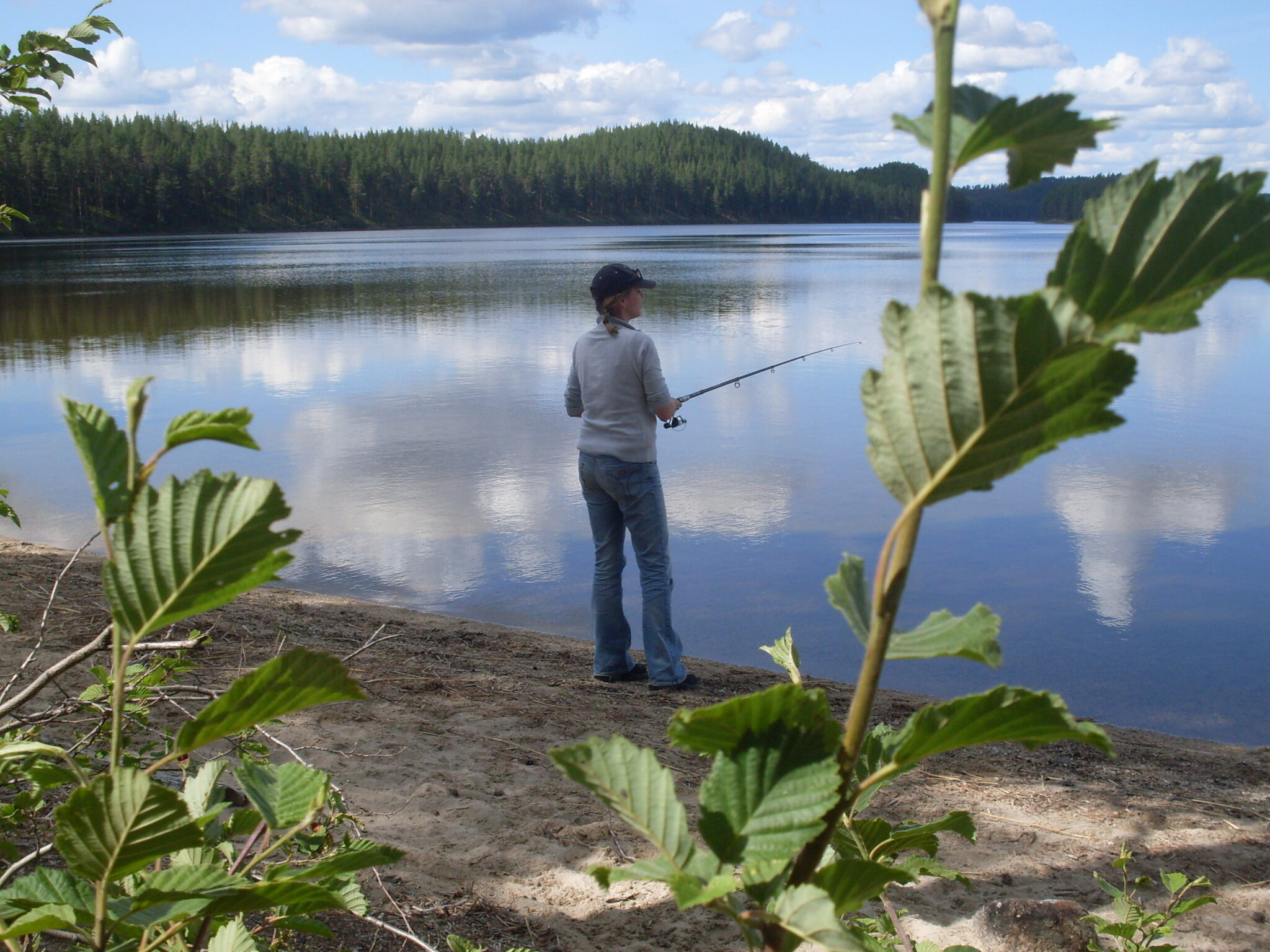 Ferien auf der RelaxRanch bei Familie Habrik; Angeln; Strand Vänernsee
